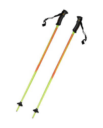 EDS23 1 Section Rubber Handle Aluminum Ski Pole